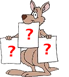 Kanga with Question Marks